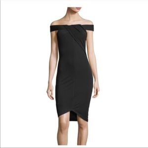 Kendall and Kylie black strapless bodycon dress XS